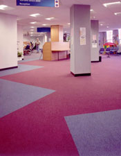 Carpet Tiles installed in a Main Reception.